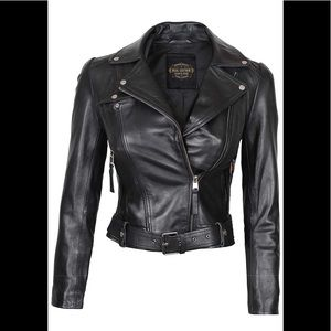 🎾 🧳 Real leather new woman motorbike jacket